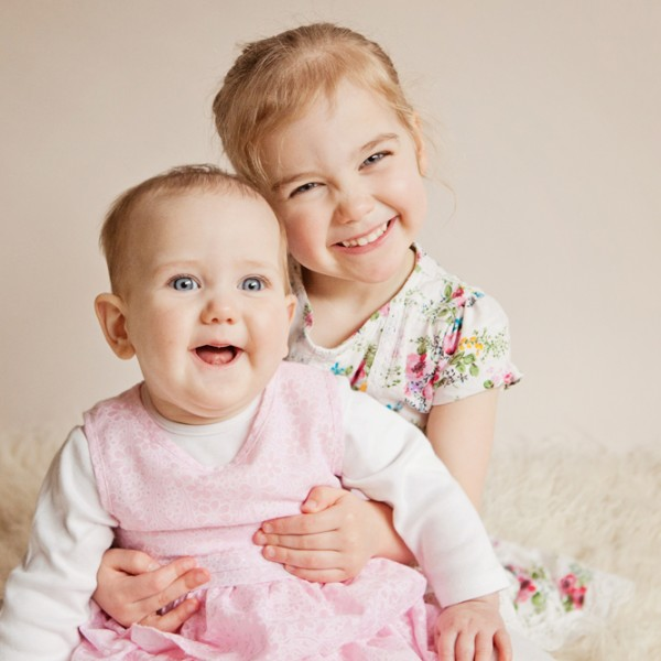 Sisters! Baby Bethany and big sister Abigale